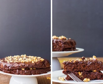 Bolo de chocolate, nozes e quinoa • Chocolate, walnuts and quinoa cake
