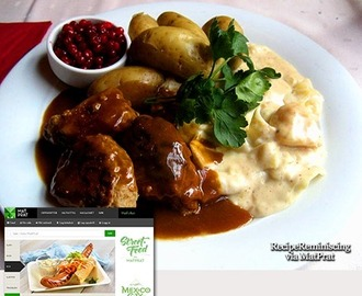 Meatballs In Brown Sauce With Creamed Cabbage Or Green Pea Puree / Kjøttkaker I Brun Saus Med Stuakål Eller Ertestuing