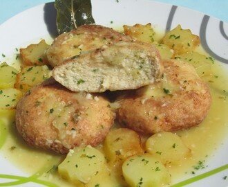 Filetes rusos de pollo en salsa