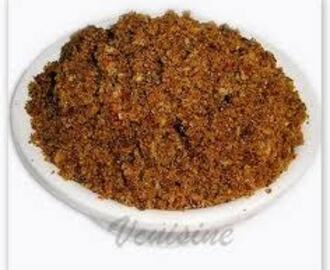 ANDHRA BEERAKAYA POTTU KARAM ( SPICY RIDGE GOURD POWDER)