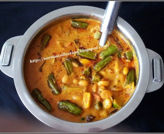 FIELD BEANS & LADIES FINGER CURRY ( MOCHA KOTTAI & VENDAKA CURRY )