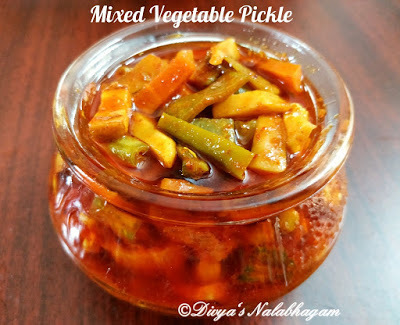MIXED VEGETABLE PICKLE/ KAIKARI OORUGAI