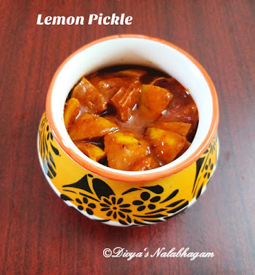LEMON PICKLE / ELUMICHAI OORUGAI