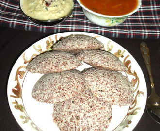 Ragi idli recipe - nanchane idli - how to make finger millet idli