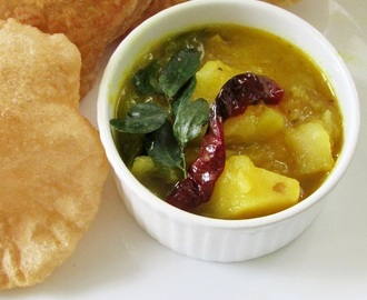 Poori Masala Recipe | Potato Masala For Poori
