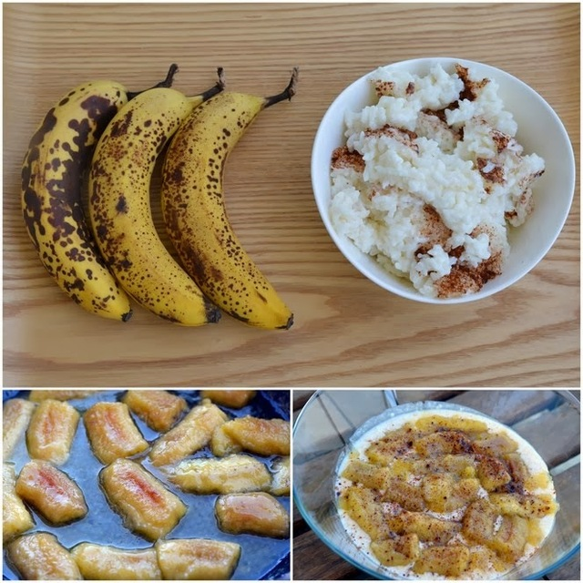 A das Aventuras da Rita na Cozinha * 14 - Arroz doce com banana flambé (A for Rita's Adventures in the Kitchen * 14 - Rice Pudding with Banana Flambé)