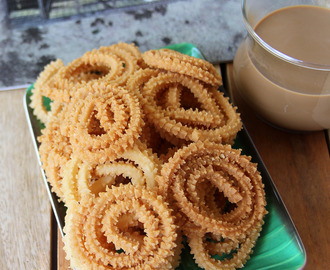 Mundhiri murukku - Cashew Murukku - Murukku recipe - Kids friendly snack recipe - Festivals, pooja recipes - Diwali recipe