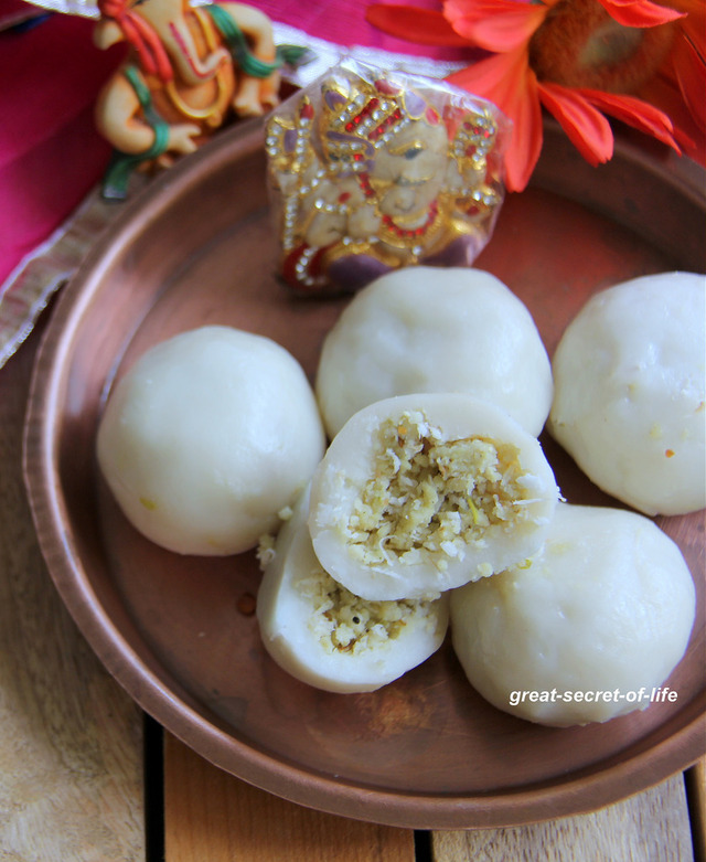 ulundhu kozhukattai - Urad Dal stuffed kolukattai - Savory version of Modak - Savory version of Kozhukattai - Urad dhal sutffed kozhukattai recipe - Simple Pooja, naivedyam, Festival recipes - ganesh chaturthi recipes -  Vinayagar Chaturthi recipes