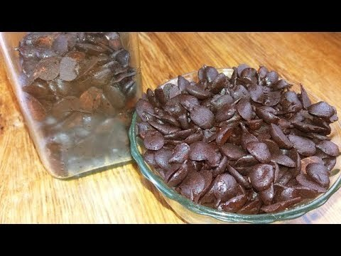 how to make choco chips at home | make choco chips from chocolate bar - YouTube