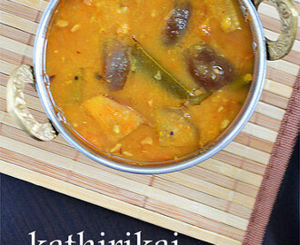 Brinjal Sambar Recipe | Kathirikai (Vankaya) Sambar | Easy Sambar Recipes
