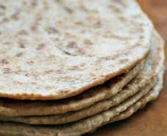 Whole Wheat Piadinas or Italian Flat Bread