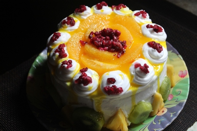 Fresh Fruit Cake Recipe - Fruit Pastry Recipe