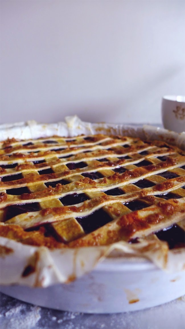 Tarte rústica de maçã e mirtilo/ apple and blueberry rustic pie
