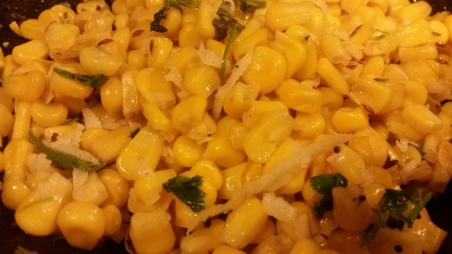 5 Minute Sidedish - SweetCorn Fry