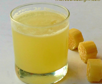 Sugarcane Juice Recipe | Homemade Sugarcane Juice