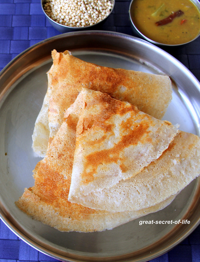 Jowar Dosa - Sorghum Dosa - Cholam Dosa  - Healthy breakfast Recipe -  Healthy Dinner recipe