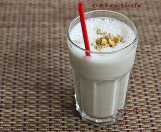 oats Banana Smoothie - Banana Oatmeal Smoothie
