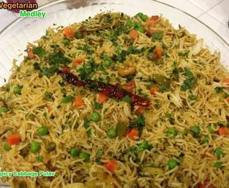 Spicy Cabbage Pulav/Pilaf