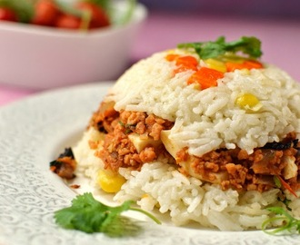 Vegetarian Arroz Tapado (Peruvian Rice & Soy Granules) for #Food of the World