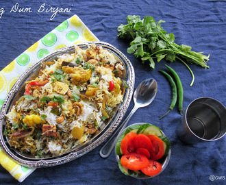 Vegetable Dum Biryani | Pakistani Veg Biryani