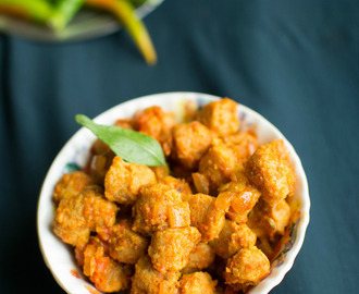 soya chunks curry - easy sides for rotis