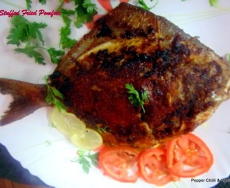 Stuffed  Fried Pomfret ..East Indian Style.