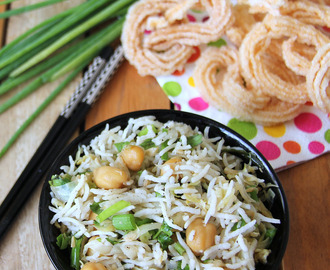 Cabbage Chickpeas fried rice - Cabbage chana fried rice - simple lunch box recipe - Simple rice recipe - Simple one pot meal