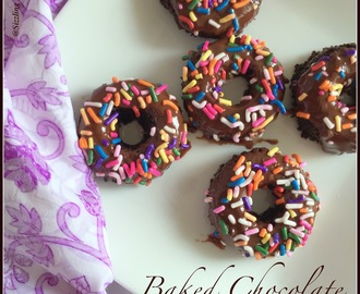 Vegan Baked Choco Mini Donuts ~  How to make no yeast Baked Chocolate Doughnuts