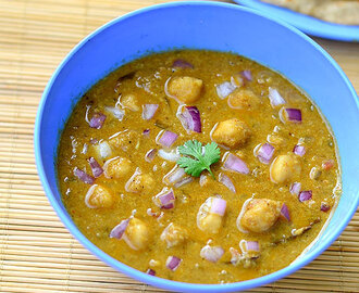 Channa Kurma Recipe - Chickpeas Kurma - Side dish for Roti,Poori