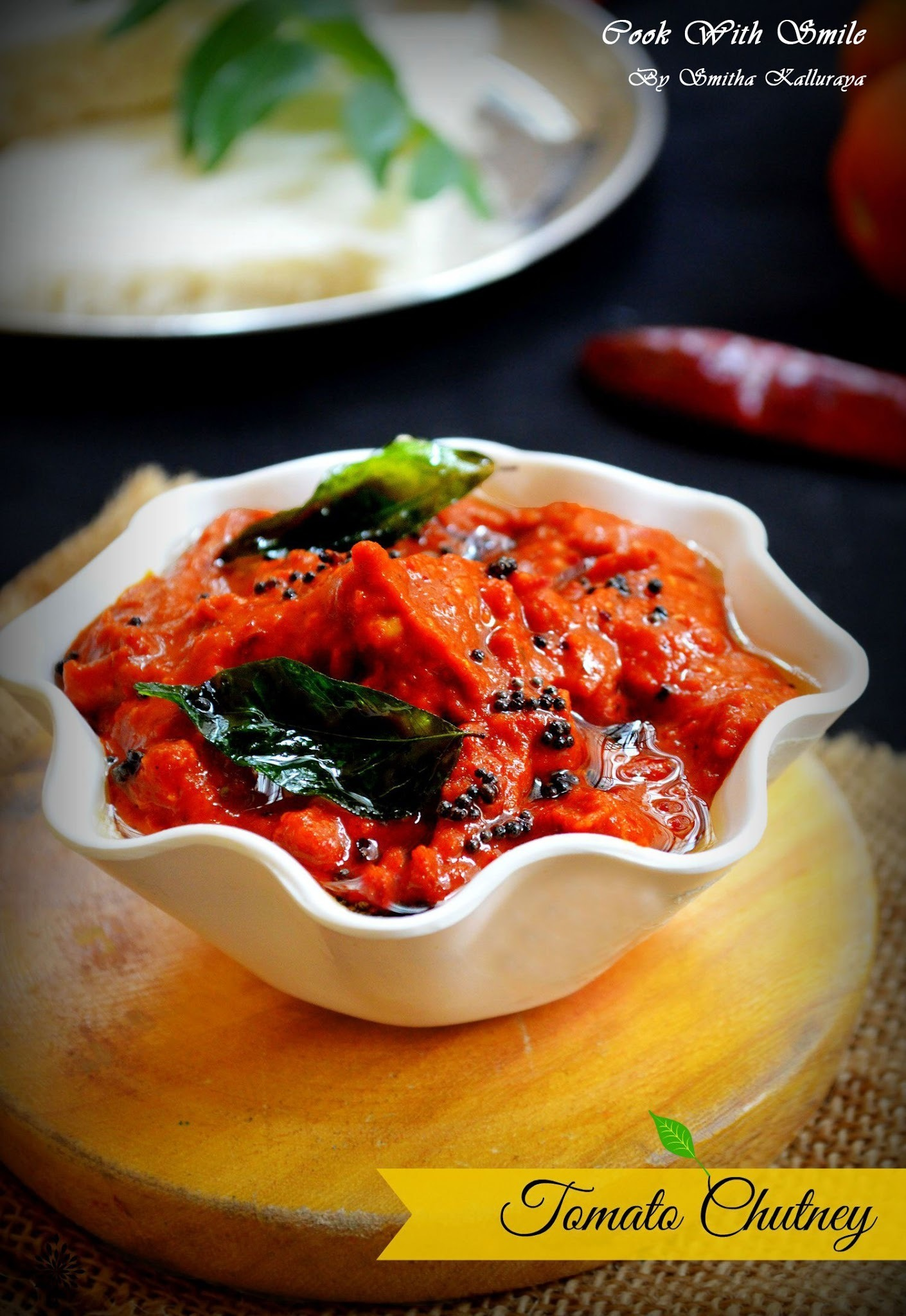 TOMATO CHUTNEY RECIPE /  NO ONION NO GARLIC TOMATO CHUTNEY