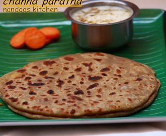 Channa paratha / Whole brown channa paratha / Lunch box recipe