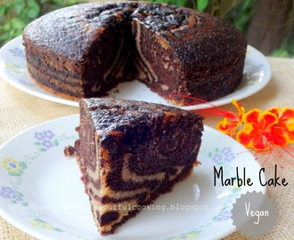 Chocolate Marble Cake (Vegan) | Egg less Chocolate Marble Cake
