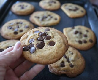 Chocolate chip COOKIES - Jennys Matblogg
