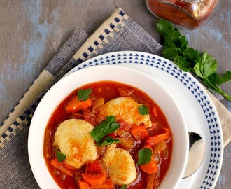 Vegetarian Paprikash with Dumplings for #Food of the World