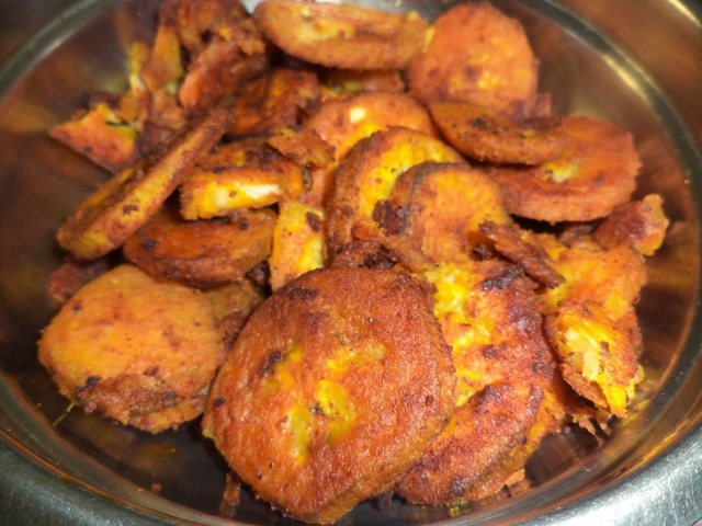 RAW BANANA MASALA FRY