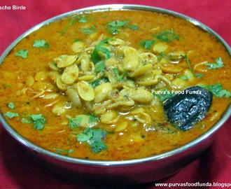 Valache Birde (Sprouted Val or Field Beans Curry)