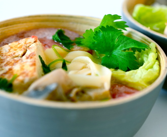 Tom Yum nuddelsuppe