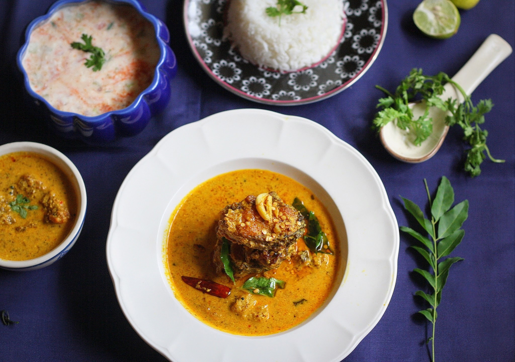 Fish Curry in a spicy mustard sauce
