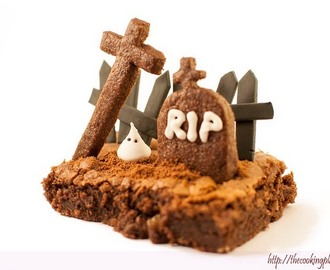 Cementerio de Halloween (brownie)