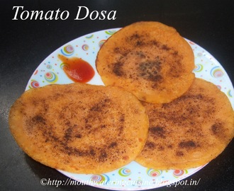 Tomato Dosa Recipe -- How to make Dosa with Tomato Juice