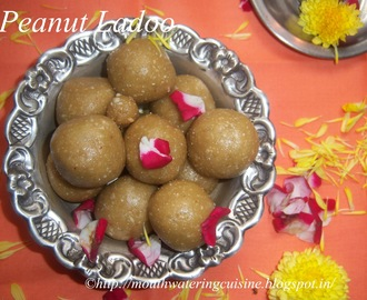 Peanut Ladoo -- How to make Peanut Ladoo -- Groundnut Ladoo Recipe