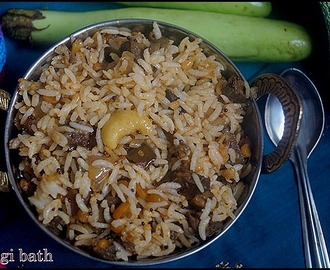 VANGI BATH/BRINJAL RICE/LUNCH BOX IDEA/RICE VARIETY