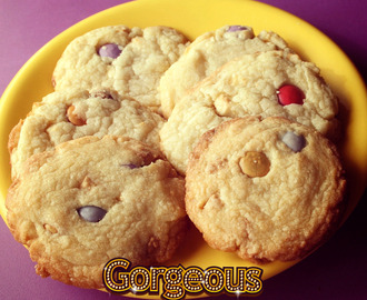 Cookies de chocolate blanco y smarties
