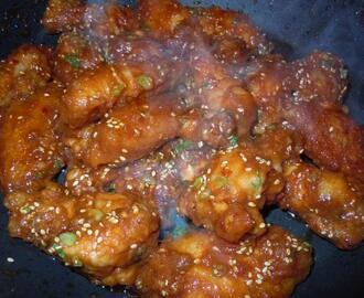 Korean Spicy Chicken Wings - Restaurant Recipe!