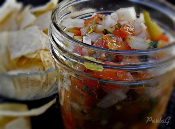 Homemade Salsa and Fried Tortilla Chips With Seasoning - Deen