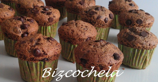 MUFFINS DE GALLETAS Y GOTAS DE CHOCOLATE