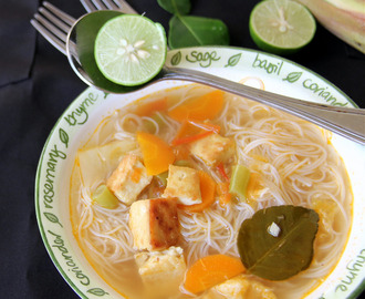 Tom Yam Noodles - Vegetarian Tom Yam Noodles - Simple Dinner or Lunch recipe