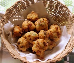 Rice pakora recipe