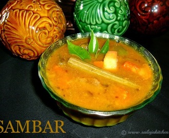 Sambar Recipe / Mixed Vegetable Sambar Recipe / South Indian Sambar Recipe
