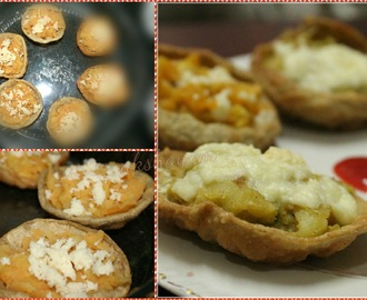 Potato & Cheese stuffed tartlets
